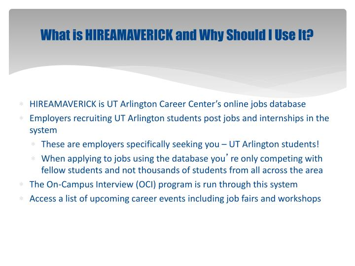 What is HIREAMAVERICK