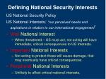defining national security interests