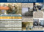 electricity reconstruction overview