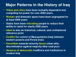 major patterns in the history of iraq