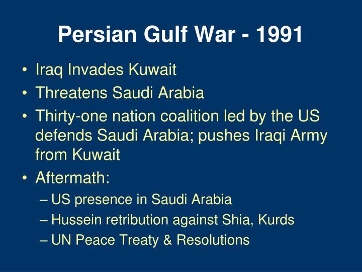 Persian Gulf War - 1991