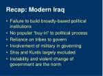 recap modern iraq