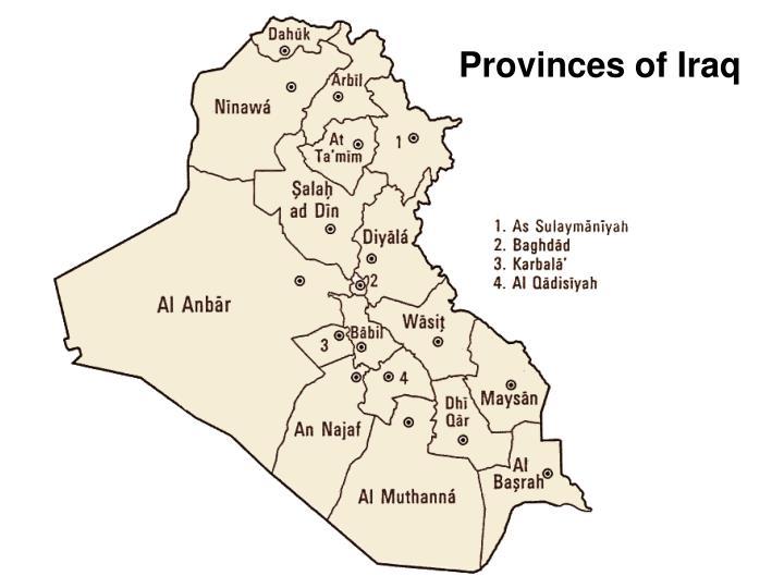 Provinces of Iraq