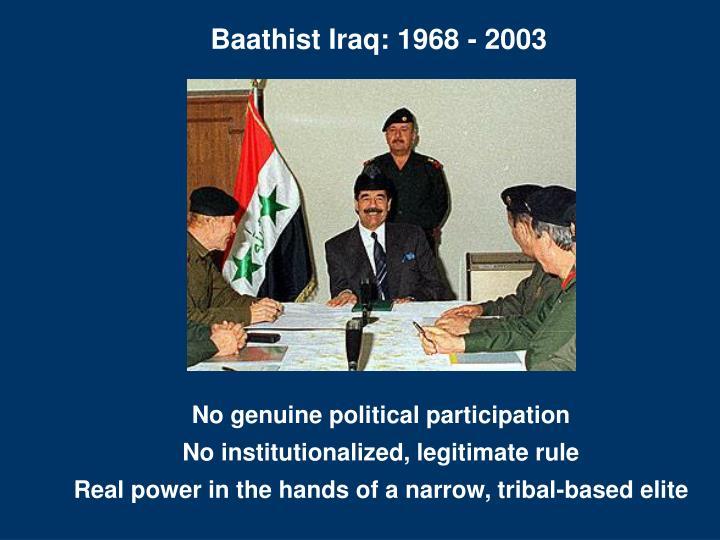 Baathist Iraq: 1968 - 2003