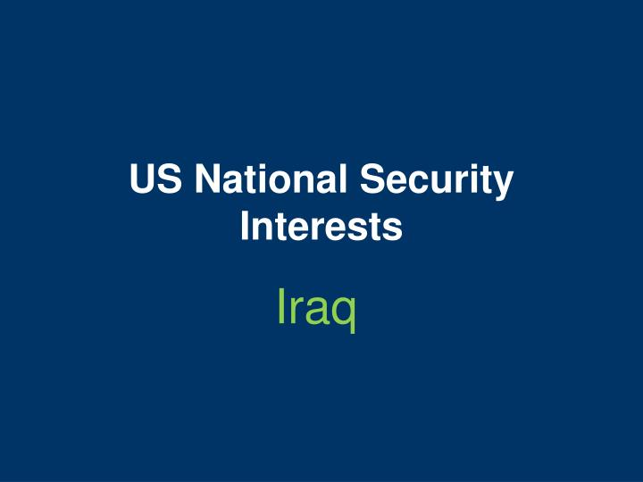 Us national security interests
