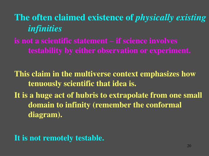 The often claimed existence of