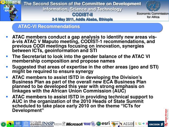 ATAC-VI Recommendations