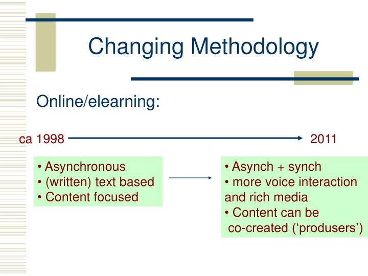 Changing Methodology