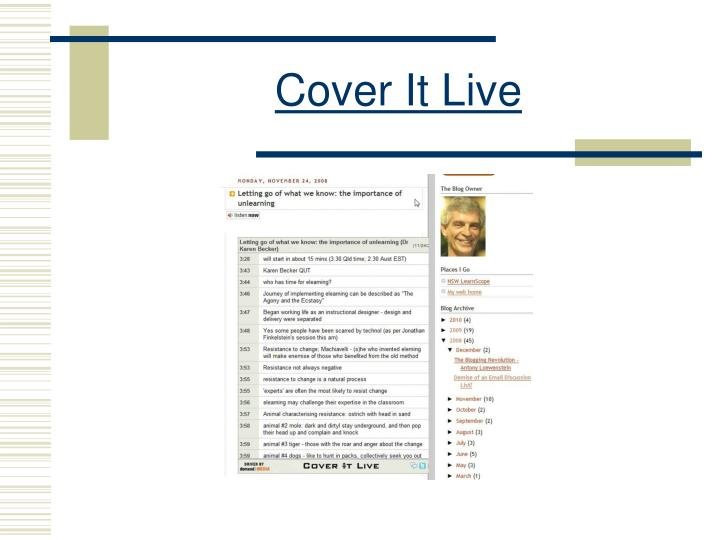 Cover It Live