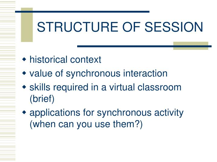 Structure of session
