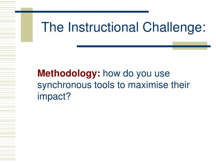 The Instructional Challenge: