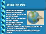 byline text trial