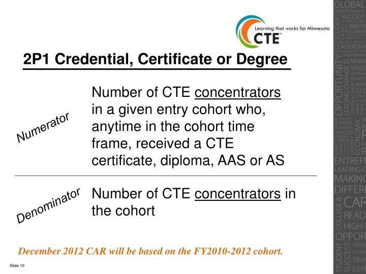 2P1 Credential, Certificate or Degree