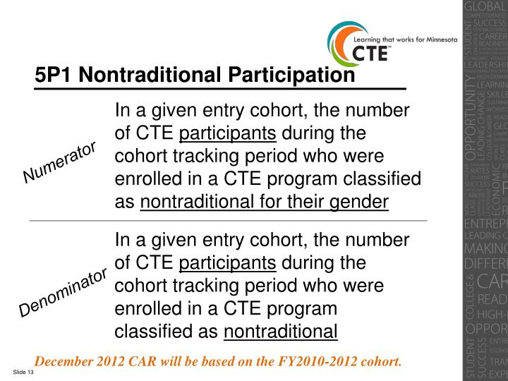 5P1 Nontraditional Participation