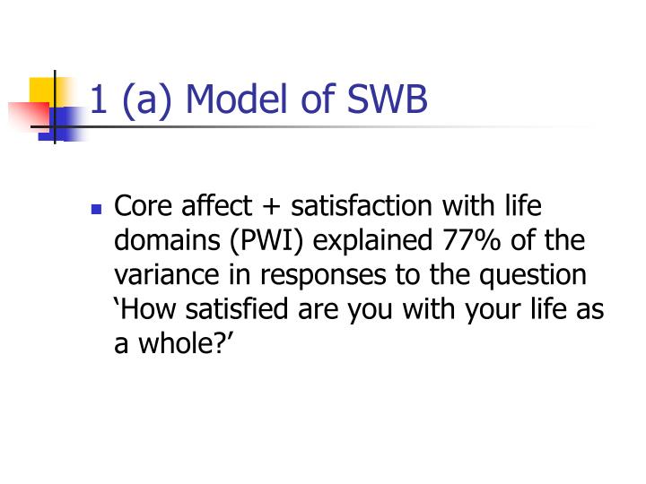 1 (a) Model of SWB