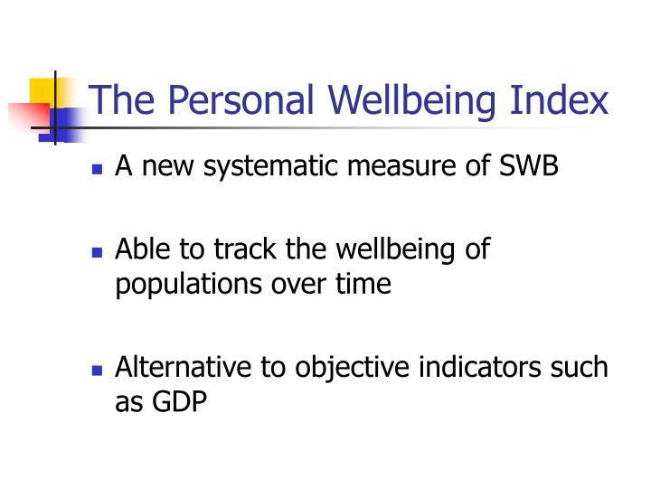 The Personal Wellbeing Index