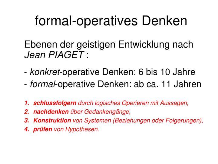 formal-operatives Denken
