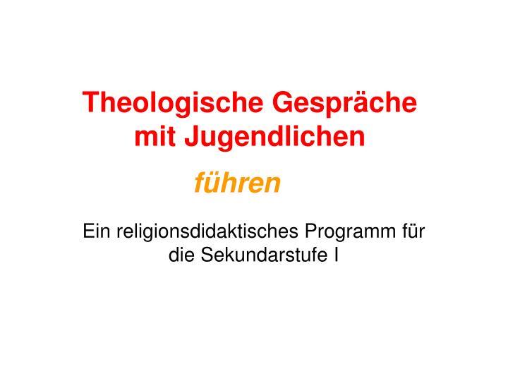 Theologische Gespräche