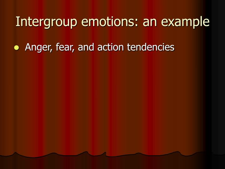 Intergroup emotions: an example