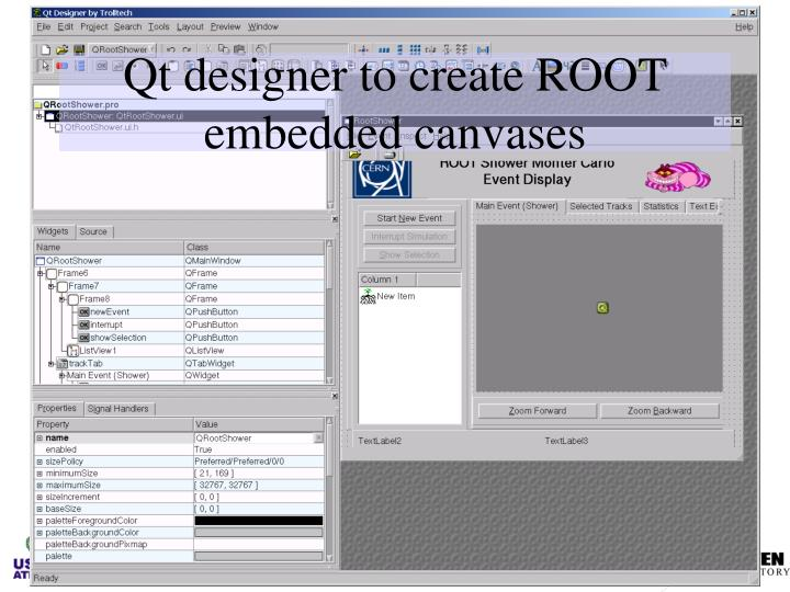 Qt designer to create ROOT embedded canvases