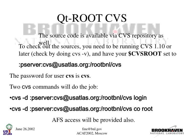 Qt-ROOT CVS