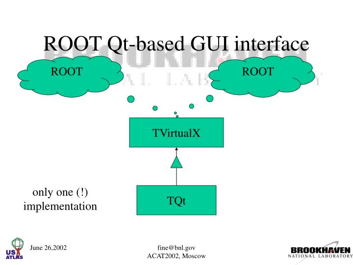 ROOT Qt-based GUI interface