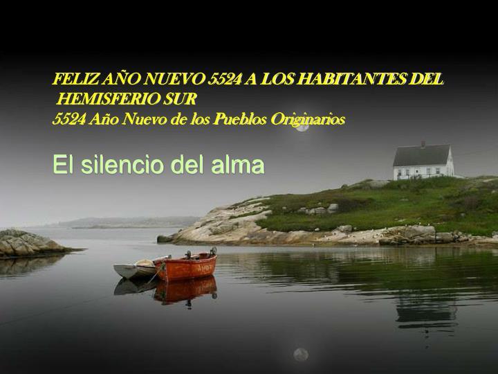 FELIZ AÑO NUEVO 5524 A LOS HABITANTES DEL