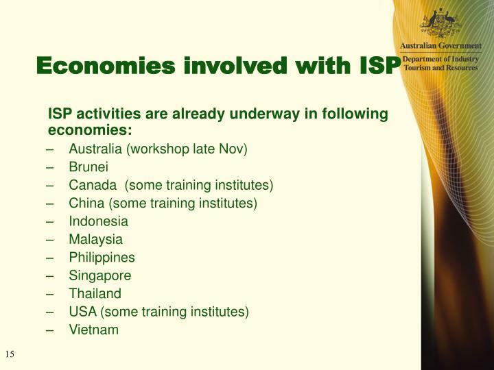 Economies involved with ISP