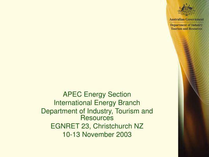 APEC Energy Section