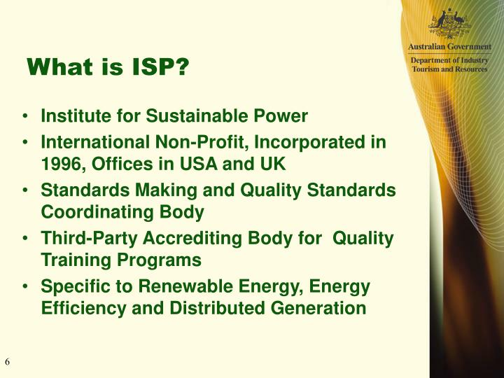 What is ISP?