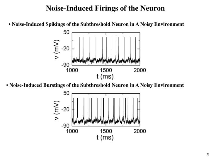 Noise-Induced Firings of the Neuron