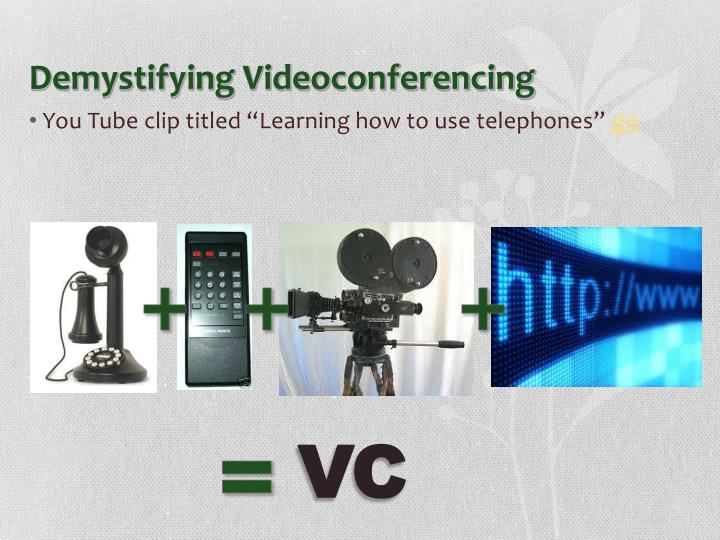 Demystifying Videoconferencing