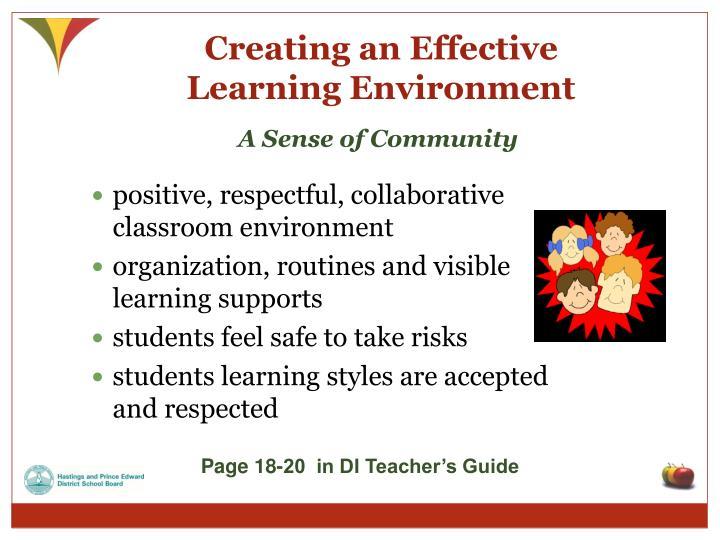 Creating an Effective