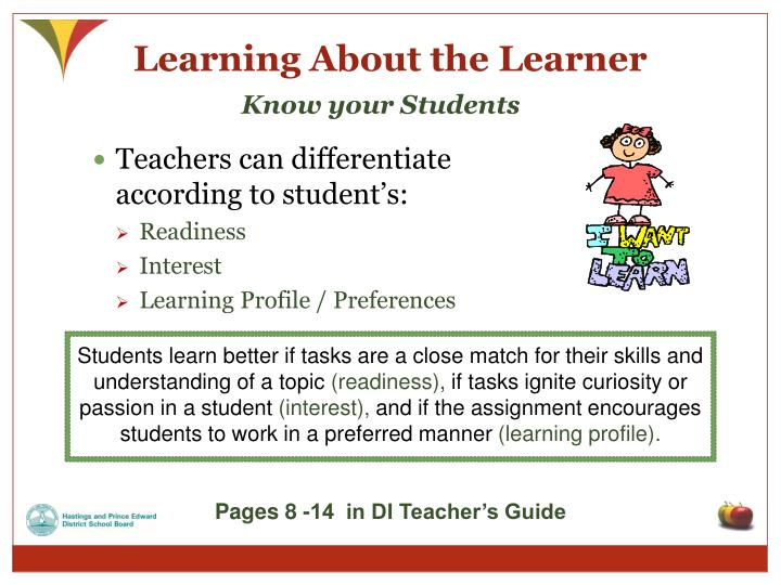 Learning About the Learner