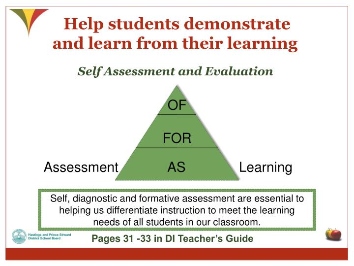 Help students demonstrate