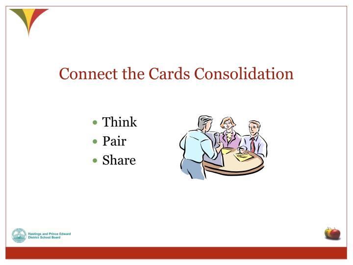 Connect the Cards Consolidation