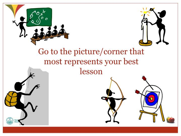 Go to the picture/corner that