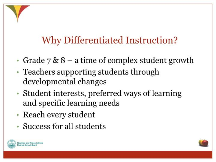 Why Differentiated Instruction?