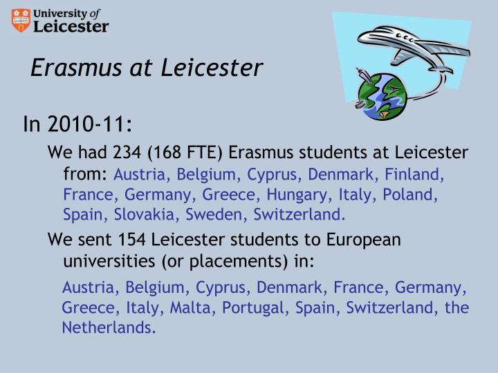Erasmus at Leicester