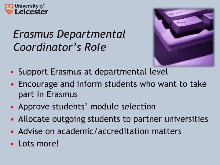 Erasmus Departmental