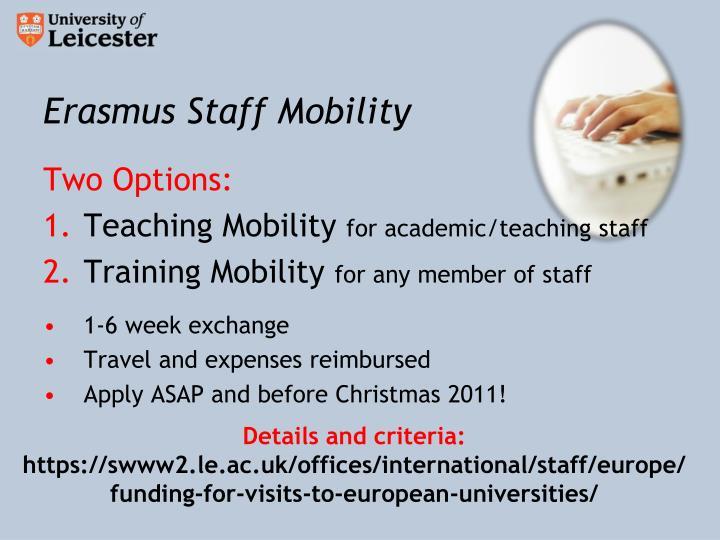Erasmus Staff Mobility