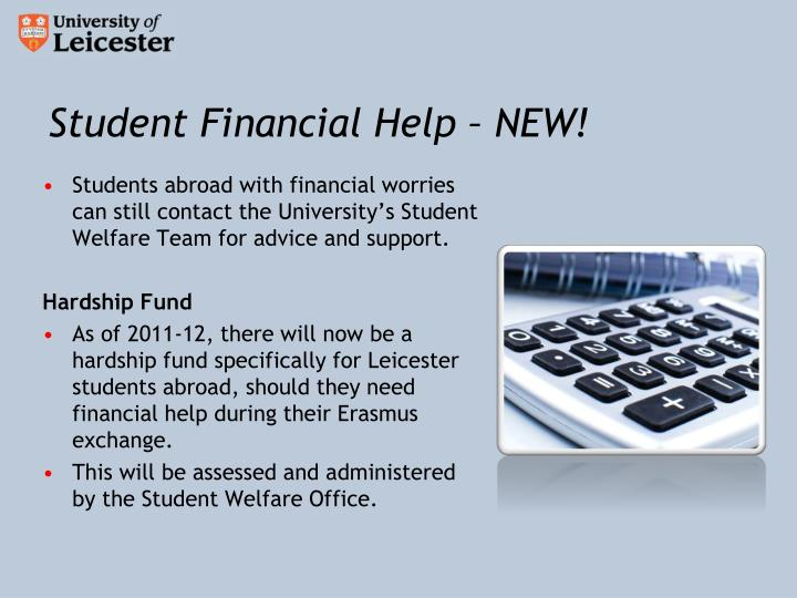 Student Financial Help – NEW!