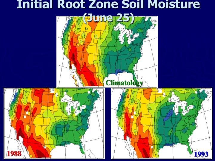 Initial Root Zone Soil Moisture