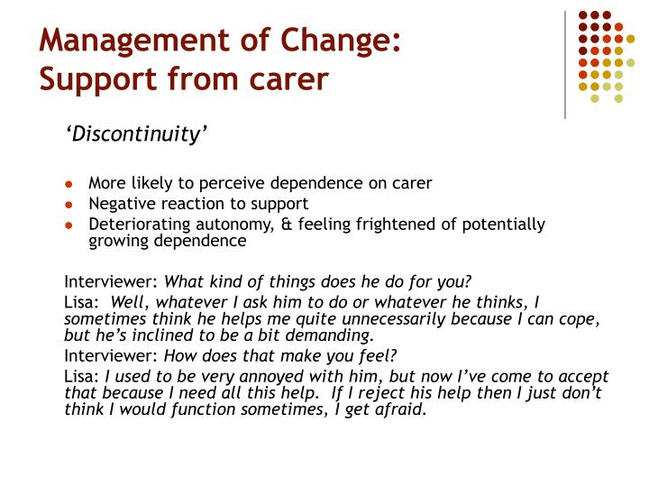 Management of Change: