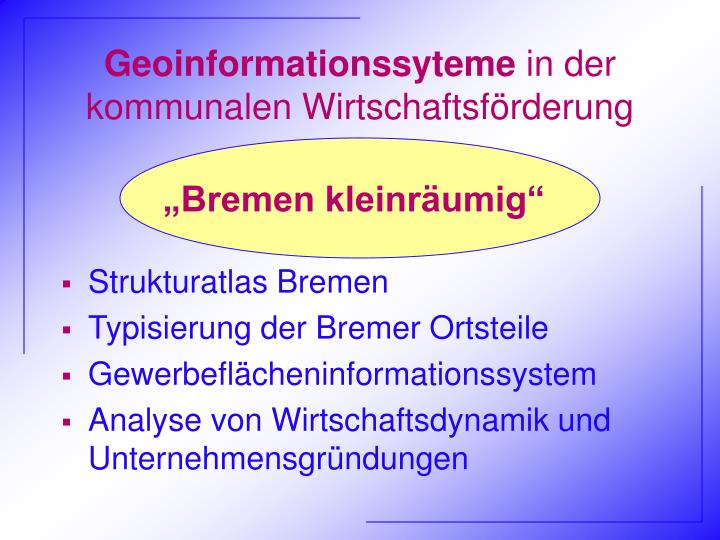 Geoinformationssyteme