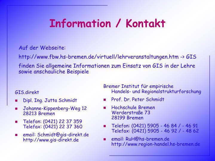 Information / Kontakt