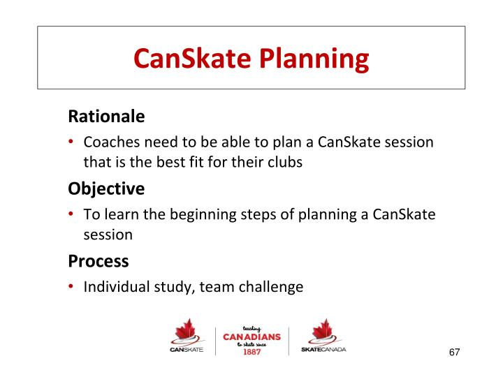 CanSkate Planning