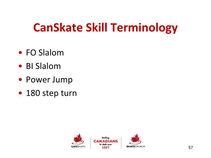 CanSkate Skill Terminology