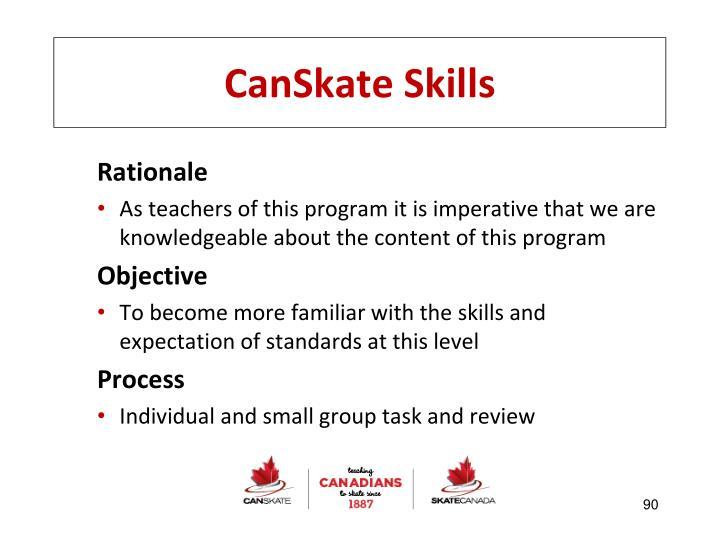 CanSkate Skills