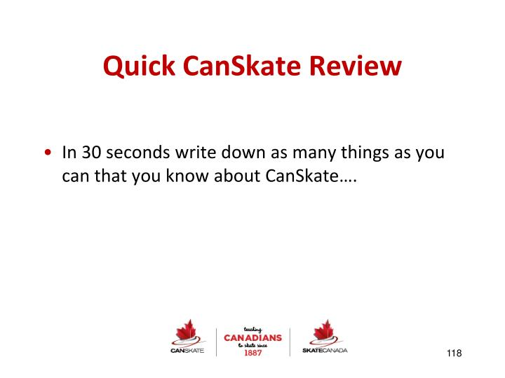 Quick CanSkate Review